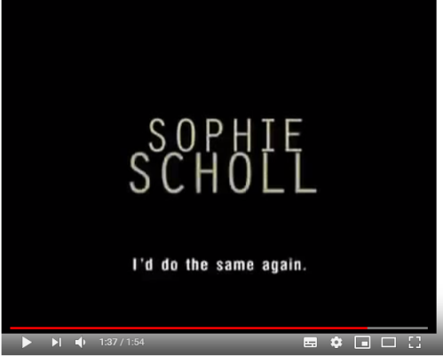 sophie scholl lesson plan